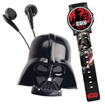 Star Wars - Space Set Radio E Relógio - Capacete Darth Vader