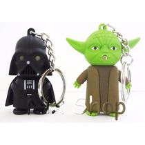 Star Wars * Kit 2 Chaveiro Lanterna Vader Yoda * Veja Vídeo