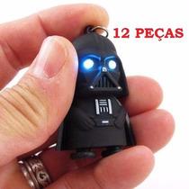 12 Chaveiros Darth Vader Star Wars Com Luz E Som De Sabre