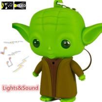 Chaveiro Yoda Star Wars Led Som Darth Vader Anakin Skywalker