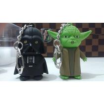 Lote Com 20 Chaveiros Darth Vader Ou Yoda Luz/ Som Star Wars