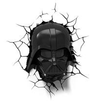 Luminária 3d Light Fx Star Wars Máscara E Sabre Darth Vader