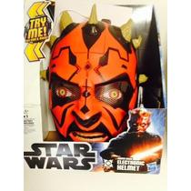 Capacete Mascara Star Wars Force Tech Darth Maul Eletronico