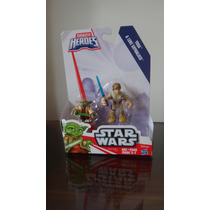 Star Wars Galactic Heroes Hasbro Yoda &luke Skywalker