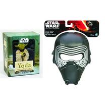 Máscara Star Wars Ep Vii Kylo Ren Hasbro + Miniatura Yoda