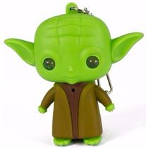 Chaveiro Yoda Star Wars Com Led E Som - House Of Rock