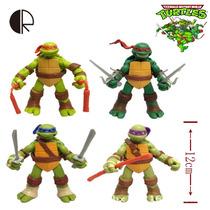 Tmnt Teenage Mutant Ninja Turtles Pvc Tartarugas Ninja 4 Pçs