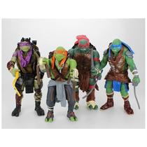 Frete Grátis - 4 Bonecos Tartarugas Ninja Filme 2014 !!!