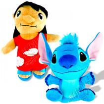 Boneca De Pelúcia Lilo E Boneco Stitch Originais Disney