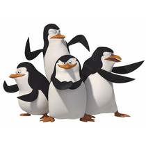 Kit C/ 4 Pelucia Herois Pinguins Madagascar -pronta Entrega