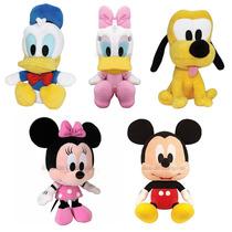 5 Boneco De Pelúcia Disney Turma Do Mickey E Minnie Big Head