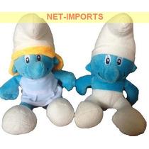 Kit Smurfs 2 Unidades 20cm Pelúcias Disney Pronta Entrega