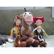 02 Bonecos Casal Woody, Jessie Plush 45/42 Cm Toy Story