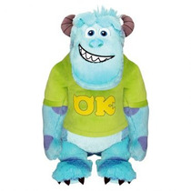 Pelucia Sulley Universidade Monstros 30cm Long Jump + Brinde