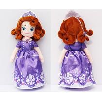 Boneca Pelúcia Princesa Sofia + Brinde