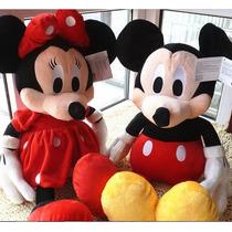 2 Boneco Mickey Mouse E Minnie Original Tamanho Grande 50cm