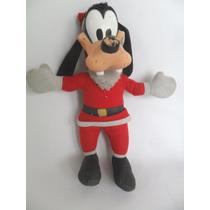 Boneco De Pelúcia Pateta Papai Noel Da Disney