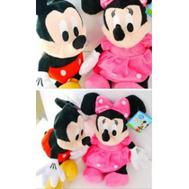 Mickey E Minnie (27cm) - Kit C/2 - Originais Disney Store®