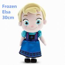 Boneca Baby Pelúcia Disney Frozen Elsa 30cm - Pronta Entrega