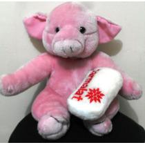 Bichinho Pelúcia Coleção Mamiferos Parmalat Porquinha 30 Cm