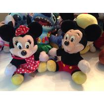 ## Mickey E Minnie Anos 80 Pelúcia Original Disney 20cm ##