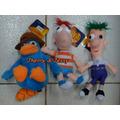3 Pelúcia Original Disney Phineas E Ferb E Perry *35cms*