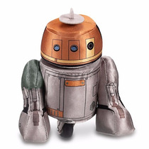 Boneco Pelúcia Robo R2-d2 Star Wars Plush Disney Rebel Chopp