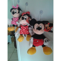 Kit Pelucia Mickey, Minnie Rosa E Vermelha