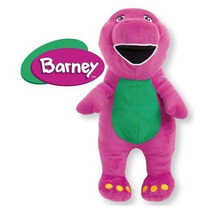 Boneco Pelúcia Barney Original Multibrink Dinossauro Roxo