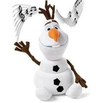 Boneco Disney Frozen Pelúcia Olaf Toca A Música Let It Go