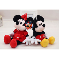 Kit Pelucia 2 Pçs Minnie E Mickey - Pronta Entrega