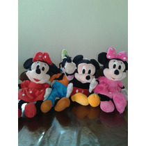 Kit Turma Do Mickey, Pateta, Minnie Rosa E Minnie Vermelha