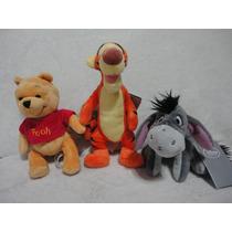 Pooh Tigrão E Bisonho 3 Pçs Originais Disney Store - Pooh