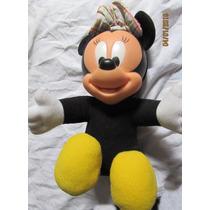 Pelúcia Minnie Baby Cabeça De Vinil 30 Cm