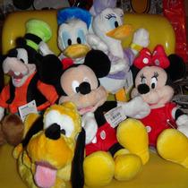 Kit 6 Pelucias Turma Do Mickey Originais Disney