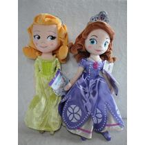 Princesa Sofia Princesa Amber 2 Bonecas Pelúcia Orig Disney