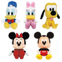 5 Boneco De Pelúcia Disney Turma Do Mickey E Minnie Big Head