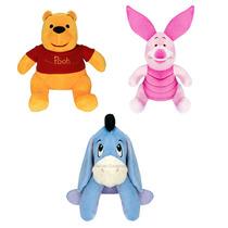 3 Urso De Pelúcia Disney Turma Pooh Leitão Ió Antialérgico