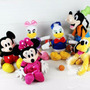 Kit 06 Bonecos Pelucia Turma Do Mickey Disney Original 30cm