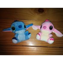 Lilo Stitch Pelúcia 11 Cm - 2 Pçs Rosa E Azul Pronta Entrega