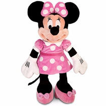 Boneca Minnie Rosa Pelúcia Disney Store 50cm