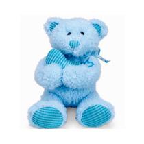 Pelucia Ursinho Abraço No Coração Azul Buba Toys
