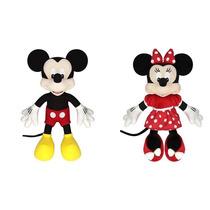 Kit Pelúcia Mickey Mouse + Minnie 30 Cm Original Long Jump