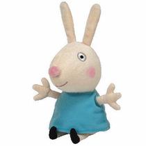Peppa Pig Pelúcia Amiga Da Peppa Coelha Rebecca 20cm Da Ty!