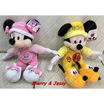 Pelúcias Mickey E Minnie Pijamas Originais Long Jump Disney