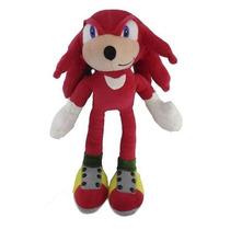 Pelúcia Knuckles Turma Do Sonic Grande 35cm Vermelho Boneco