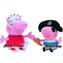 Kit Pelúcia Peppa Pig E George Fantasia -pronta Entrega