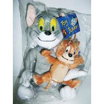 Tom E Jerry Kit Com 2 Pelúcias Rato E Gato Importado Novo