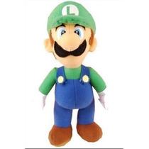 Luigi Do Super Mario Bros Boneco De Pelúcia *25 Cm*