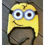 Touca Croche Minion Meu Malvado Favorito - Art Crochê